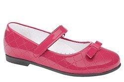 Balerinki na rzepy Lakierki KORNECKI 4431 Pink Różowe