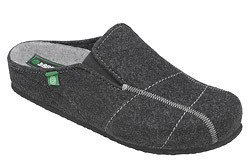 Kapcie Dr BRINKMANN 220225-9 Grafitowe Pantofle domowe Ciapy