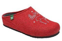 Kapcie Dr BRINKMANN 320539-4 Czerwone Pantofle domowe Ciapy