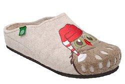 Kapcie Dr BRINKMANN 320542-8 Beżowe Pantofle domowe Ciapy
