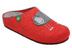 Kapcie Pantofle domowe Ciapy Dr Brinkmann 320485-4 Czerwone