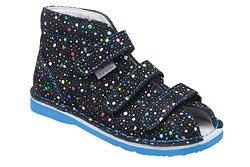Kapcie profilaktyczne buty DANIELKI T125L T135L Kropki Blue