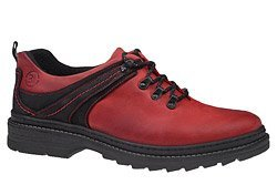 Półbuty KACPER 1-1639-370 Czerwone Czarne