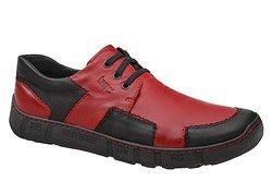 Półbuty KACPER 1-4801-160 Czerwone Czarne