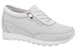 Półbuty Sneakersy ARTIKER 48C1598 Białe na koturnie