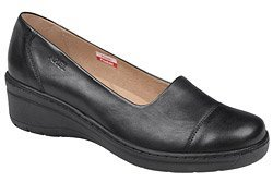 Półbuty na koturnie buty AXEL Comfort 1601 Czarne