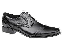 Półbuty wizytowe buty CONHPOL C-2711 Czarne