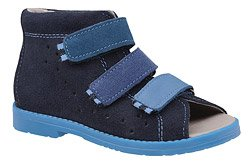 Sandałki Profilaktyczne Ortopedyczne Buty DAWID 1041 Granatowe GNP