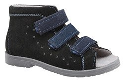 Sandałki Profilaktyczne Ortopedyczne Buty DAWID 1042 Czarne CZN