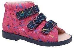 Sandałki Profilaktyczne Ortopedyczne Buty DAWID 1042 Różowe M3