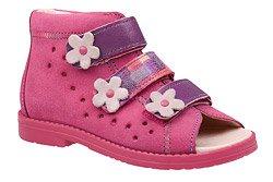 Sandałki Profilaktyczne Ortopedyczne Buty DAWID 1042 Różowe RCF