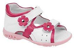 Sandałki dla dziewczynki KORNECKI 3718 Białe Róż