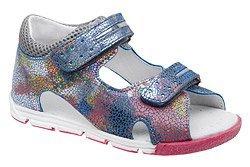 Sandałki dla dziewczynki KORNECKI 4952 Niebieskie Multi