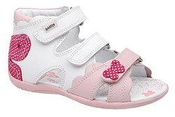 Sandałki na rzepy BARTEK 11823-B34 Różowe Białe