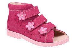 Sandały Profilaktyczne Ortopedyczne Buty DAWID 1043 Różowe RC