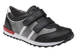 Sneakersy Półbuty KORNECKI 4912 Czarne+Szary na rzepy