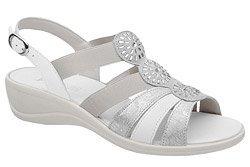 Włoskie Sandały IMAC 708230 Białe Srebrne na haluksy