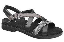 Włoskie Sandały IMAC 708730 Czarne na haluksy