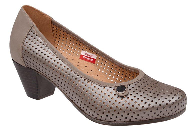 d25ff885aee60 Czółenka AXEL Comfort 1593 Perła buty na haluksy na obcasie ...