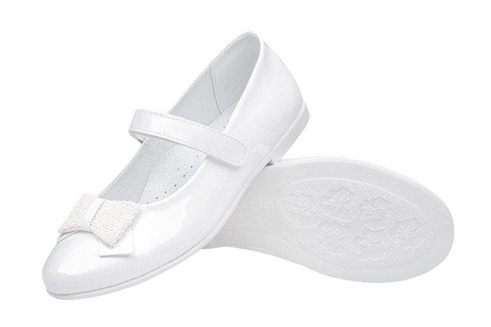 Balerinki buty komunijne KORNECKI 6100 Białe Lakierki