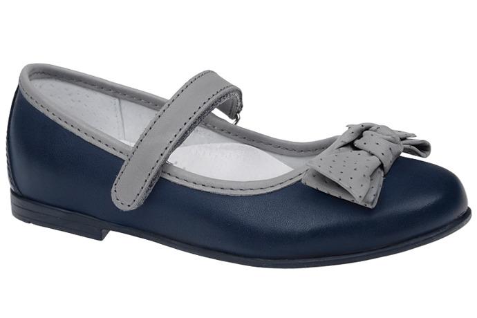 Balerinki na rzepy buty KORNECKI 3891 Granat