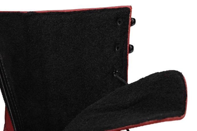 Botki Kozaki VERONII 5272 Czerwone ocieplane Kornecki