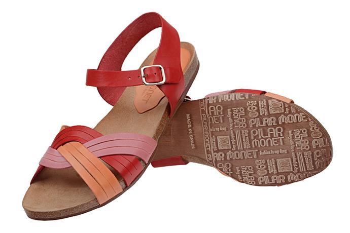 Hiszpańskie Sandały PILAR MONET 14000 Multi Rubi