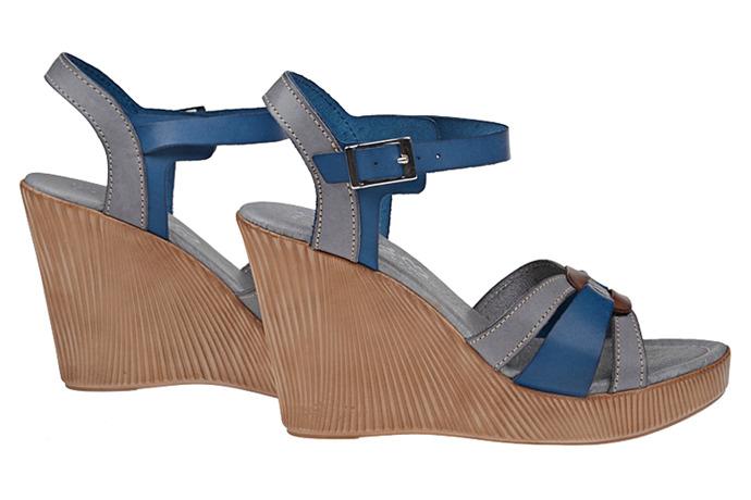Hiszpańskie Sandały PRESSO 5484 Grisol Jeans