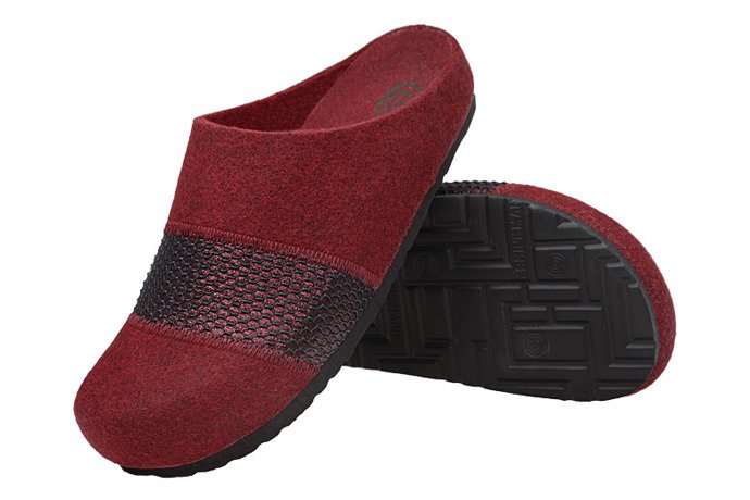Kapcie Dr BRINKMANN 320554-41 Bordowe Pantofle domowe Ciapy