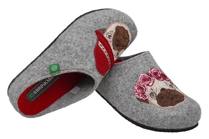 Kapcie Dr BRINKMANN 320689-9 Popielate Pantofle domowe Ciapy