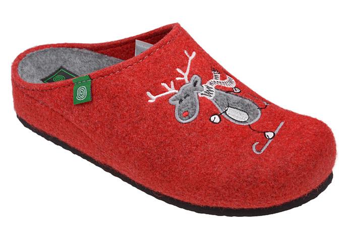 Kapcie Pantofle domowe Buty Dr Brinkmann 320453-4 Czerwone