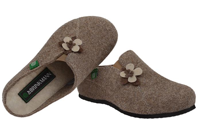 Kapcie Pantofle domowe Ciapy Dr Brinkmann 330125-2 Brązowe