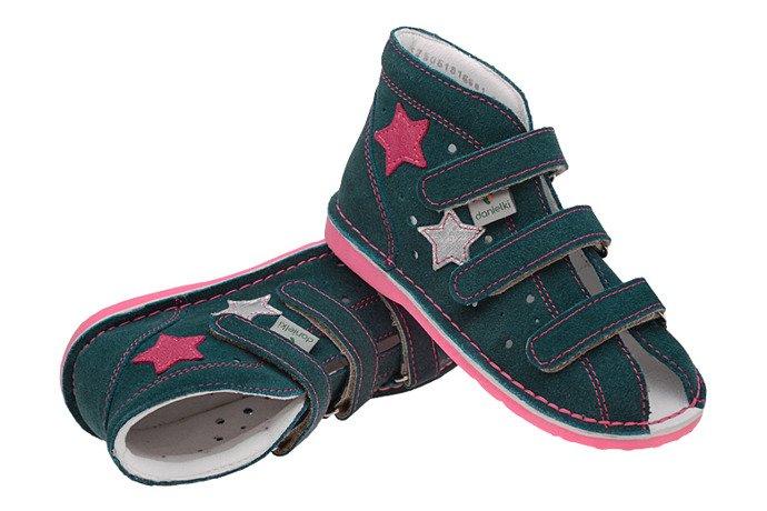 Kapcie profilaktyczne buty DANIELKI TA125 TA135 Petrol Fluo Fuksja
