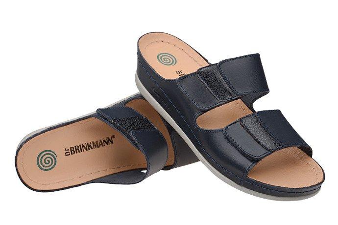 Klapki Dr Brinkmann 701107-5 Granatowe