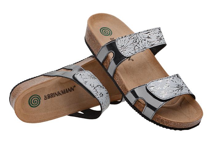 Klapki Dr Brinkmann 701287-92 Srebrne