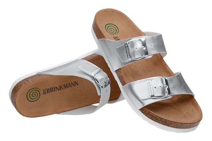 Klapki Dr Brinkmann 701394-92 Srebrne
