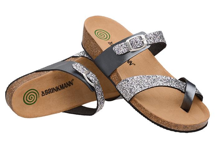 Klapki buty Dr Brinkmann 701035-92 Srebrne