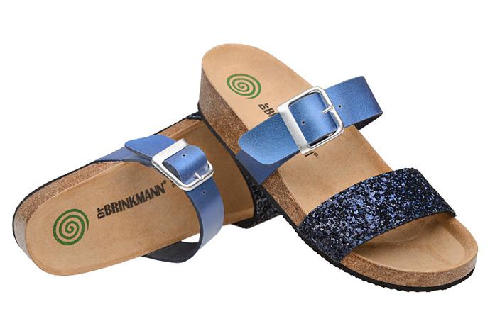 Klapki buty Dr Brinkmann 701036-5 Granatowe