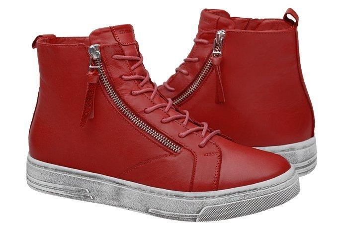 Komfortowe Trzewiki MANITU 991596-4 Czerwone