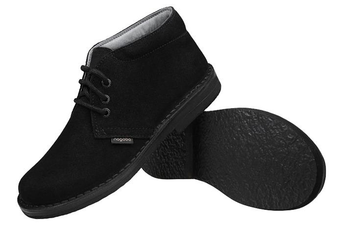 Kultowe Trzewiki buty NAGABA 074 Czarne