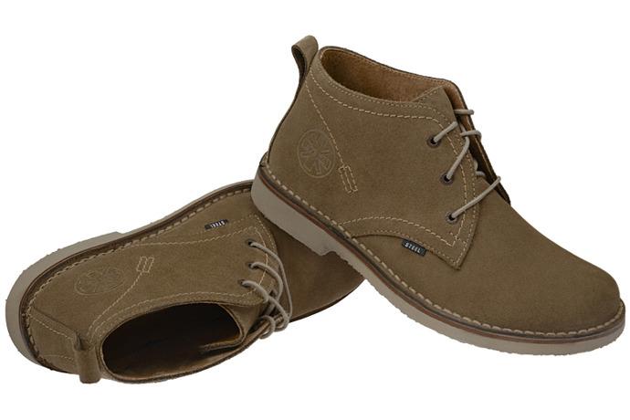 Kultowe trzewiki buty STEEL 284-W1 Oliwkowe