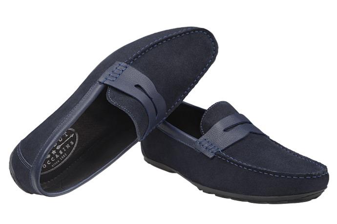 Mokasyny buty wsuwane KRISBUT 4923 Granatowe