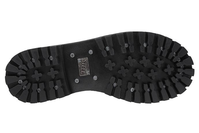 Półbuty Glany STEEL 102/O Czarne 3-dziurki