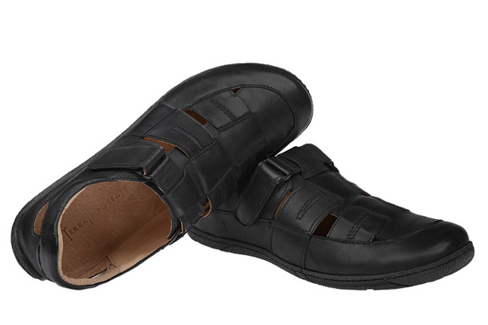 Półbuty Sandały KACPER 1-0754-253 Czarne