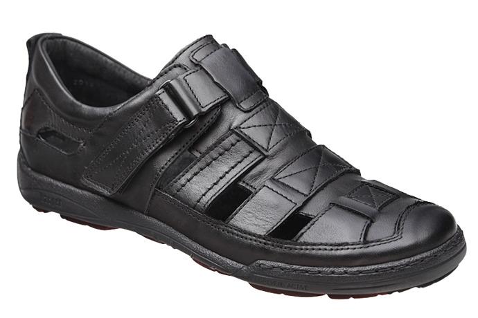 Półbuty Sandały KACPER 1-4208-253 Czarne