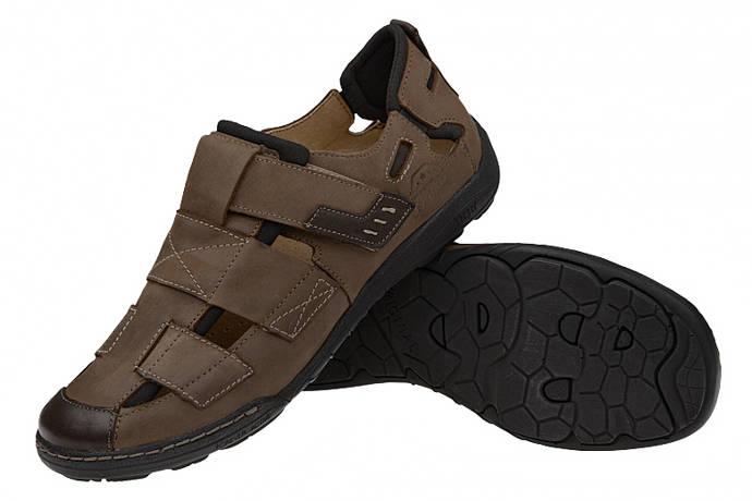 Półbuty Sandały KACPER 1-4213-372 Brązowe