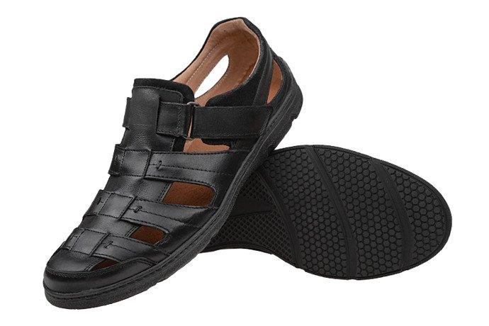 Półbuty Sandały męskie BADURA 3201-372 Czarne