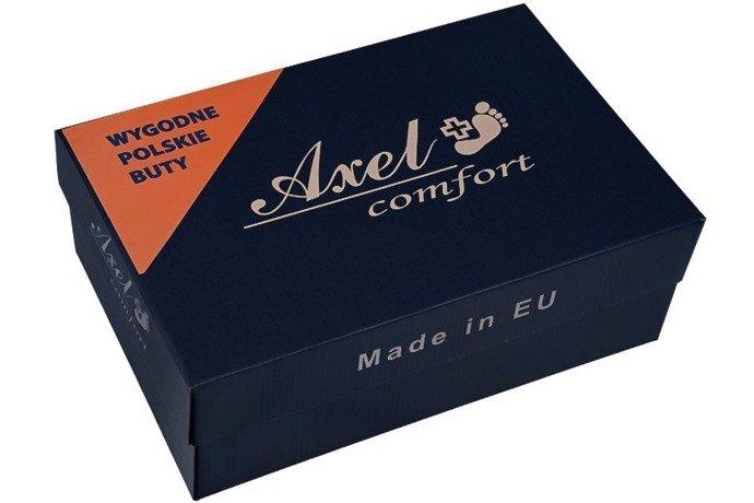 Półbuty AXEL Comfort 1397 Czarne Elastico H na rzepy