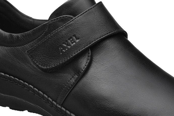 Półbuty na rzepy AXEL Comfort 1461 Czarne H