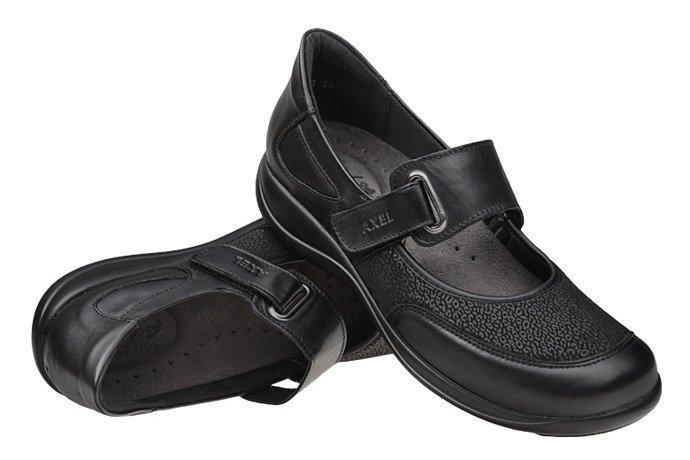 Półbuty na rzepy AXEL Comfort 1576 Czarne H